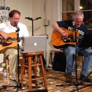IMAGE Bill Rich and David Ledgerwood in our Songwriters' Circle